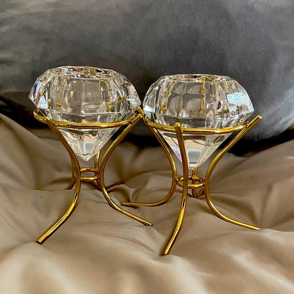 Partylite Crystal tea lights Candle holders
